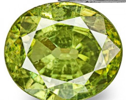 Namibia Demantoid Garnet, 0.75 Carats, Intense Green Oval