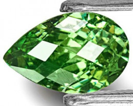 Namibia Demantoid Garnet, 1.15 Carats, Deep Yellow Green Pear