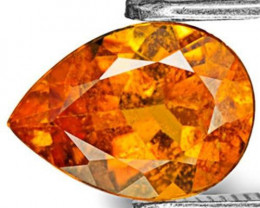 Tanzania Clinohumite, 1.20 Carats, Intense Orange Pear