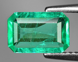 1.11 Cts Natural Earth Mined Green Color Colombian Emerald Gemstone