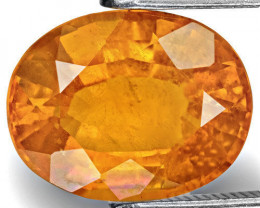 Tajikistan Clinohumite, 3.51 Carats, Bright Fanta Orange Oval