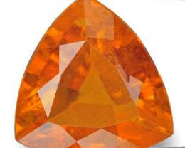 Tajikistan Clinohumite, 2.17 Carats, Bright Yellow Orange Trilliant