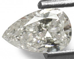 """Guinea Diamond, 0.52 Carats, G (On a Scale of """"D"""" to """"Z"""") Pear"""