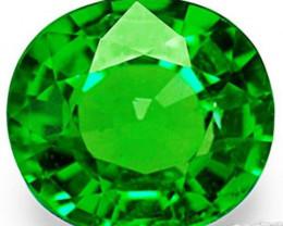 Kenya Tsavorite Garnet, 0.73 Carats, Electric Green Oval