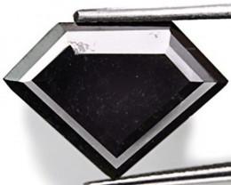Guinea Fancy Color Diamond, 4.32 Carats, Jet Black Fancy Cut