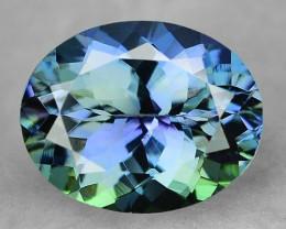 Peacock Tanzanite 1.42 Cts Blue Green Color Natural Gemstone
