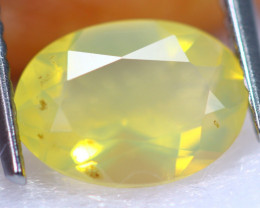 1.28cts Natural Brazilian Yellow Colour Fire Opal / RD1330