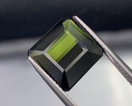 """NR"" 7.65 Carats VVS Quality Green Color Natural Tourmaline"