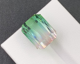 13.57 Cts. Beautiful Glowing Tri Color Natural Tourmaline