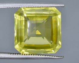 10.11 Crt Natural  Lemon Quartz Faceted Gemstone.( AB 53)