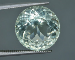 10.34 Crt Natural Green Prasiolite Amethyst Faceted Gemstone.( AB 53)