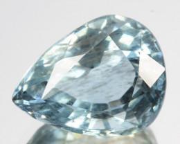 5.04 Cts Natural Aquamarine Pastel Blue Pear (Drop) Cut Brazil