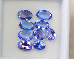 3.29ct Natural Violet Blue Tanzanite Oval Cut Lot P107