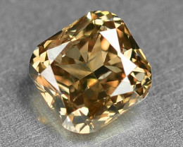 0.37 Cts Untreated Natural Fancy Brown Color Loose Diamond