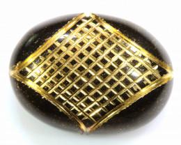 14.30 CTS-BLACK ONYX  24K GOLD ENGRAVED  LG-620