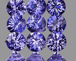 3.00 mm Round 15 pcs Unheated Purplish-Blue Sapphire [VVS]