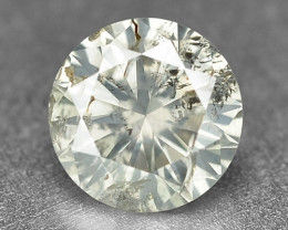 Diamond 0.27 Cts Untreated Natural Fancy Yellowish Grey Color Loose