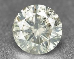 Diamond 0.27 Cts Untreated Natural Yellowish Grey Color
