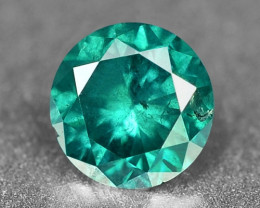 0.14 Cts Sparkling Rare Fancy  Blueish Green Color Natural Loose Diamond