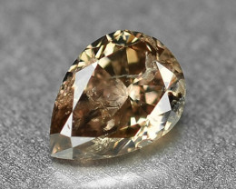 0.22 Cts Untreated Natural Fancy Yellowish Brown Color Loose Diamond