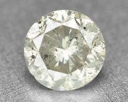 Diamond 0.31 Cts Untreated Natural Fancy Yellowish Grey Color Diamond