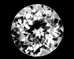 Unheated!!  2.30 Cts Natural White Topaz 8mm Round Cut Brazil