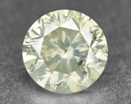 0.25 Cts Untreated Natural Fancy Yellowish Grey Color Loose Diamond
