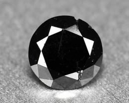 0.22 Cts Sparkling Rare Fancy Black Color Enhanced Natural Loose Diamond