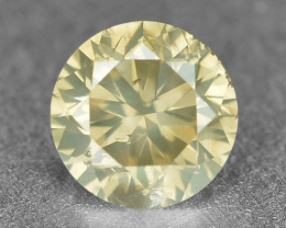 0.19 Cts Untreated Natural Fancy Greyish Yellow Color Loose Diamond