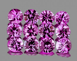 2.50 mm Round 12 pcs Unheated Lavender Pink Sapphire [VVS]