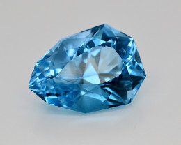 25.70 CT NATURAL BLUE SWISS TOPAZ GEMSTONE