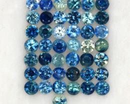 4.09 ct. 2.6-2.7 MM. NATURAL GEMSTONE MULTI COLOR SAPPHIRE DIAMOND CUT 43PC