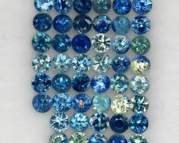 4.07 ct. 2.6 MM. DIAMOND CUT MULTI COLOR SAPPHIRE NATURAL GEMSTONE 46PCS.