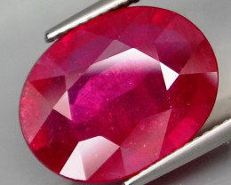 9.75  Cts.   Top Quality Blood Red  Natural Ruby  Burma Gem