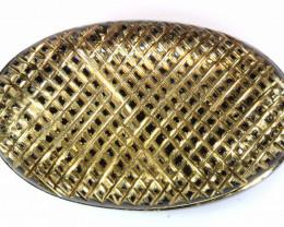 35 CTS BLACK ONYX 24K GOLD ENGRAVED  LG-673
