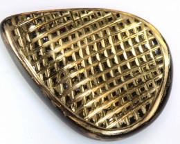 13 CTS BLACK ONYX 24K GOLD ENGRAVED  LG-696