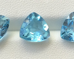 11.95 Carats 3 Pieces Topaz Gemstones