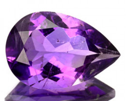 2.42 Cts Natural Nice Purple Amethyst 12x8mm Pear Cut Bolivia