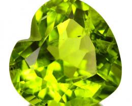 2.80 Cts Amazing Rare Fancy Green Natural Peridot Gemstone