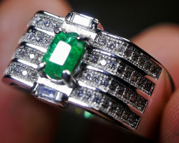 23.30 CT Natural Octagon Emerald Jewelry Ring