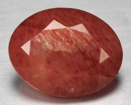 2.57 Cts Amazing Rare Natural Red Color Andesine Gemstone