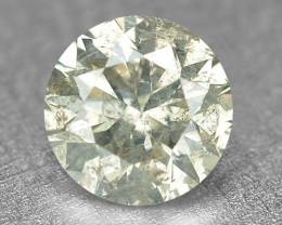 0.22 Cts Untreated Natural Fancy Greenish Grey Color Loose Diamond