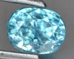 1.94 Cts Blue Zircon Natural Loose Gemstone