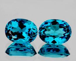 11x9 mm Oval 2 pcs 8.81cts London Blue Topaz [VVS]