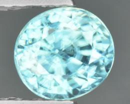1.57 Cts Blue Zircon Natural Loose Gemstone