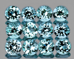 4.50 mm Round 12 pcs 5.08cts Sky Blue Topaz [VVS]