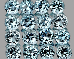 1.80 mm Round 80 pcs 2.22cts Light Sky Blue Topaz [VVS]