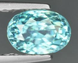 1.26 Cts Blue Zircon Natural Loose Gemstone