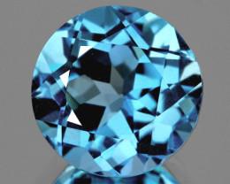 8.00 mm Round 2.38cts Sky Blue Topaz [VVS]