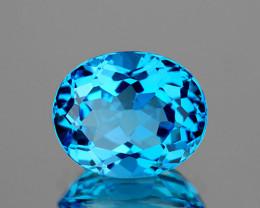 14x11 Oval 8.02cts Swiss Blue Topaz [VVS]
